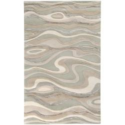 Candice Olson Hand-tufted Zagros Abstract Waves Wool Rug (9' x 13')