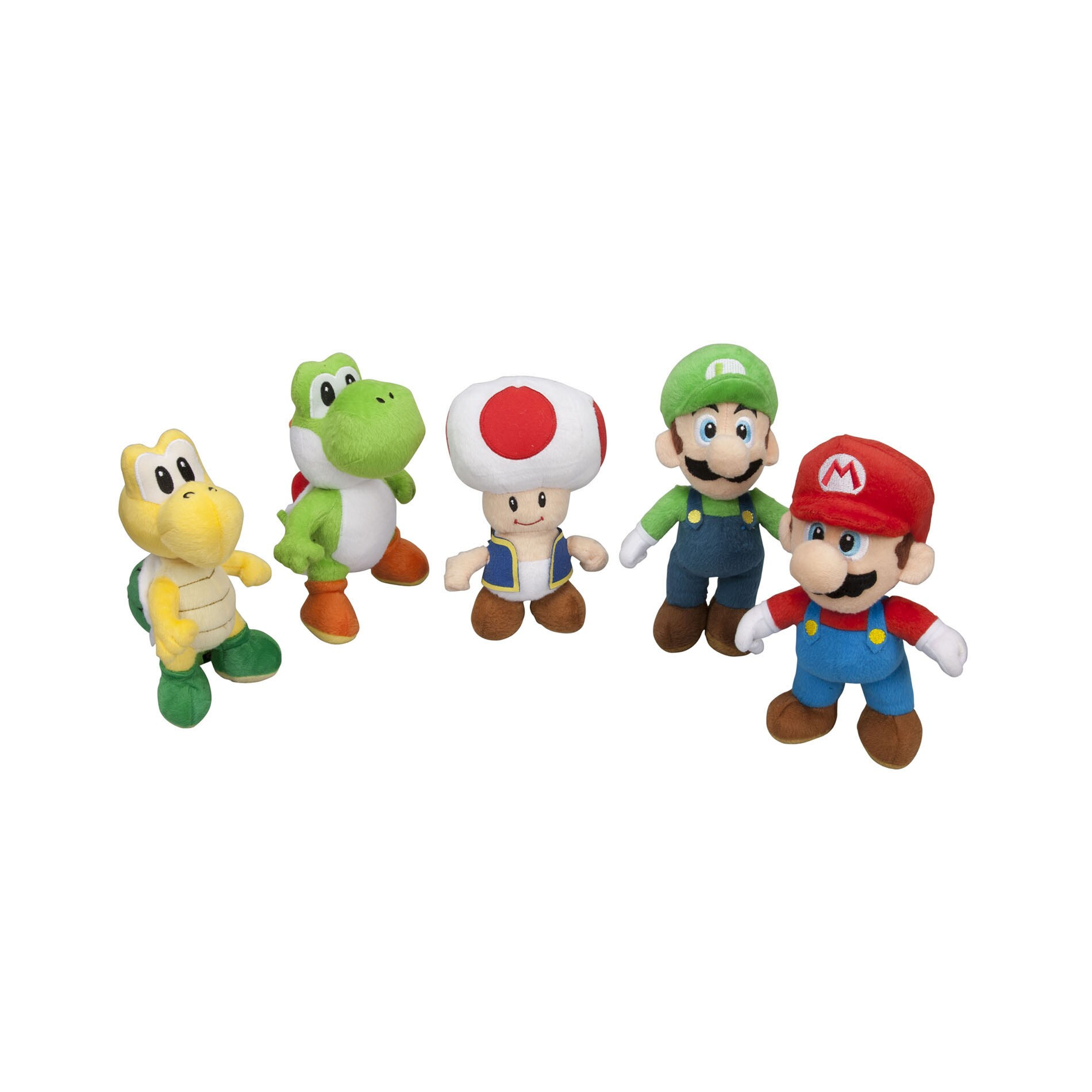Super Mario Collector Plush 5-pack