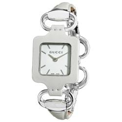 Gucci Women's '1921' Bangle Style White Leather Watch
