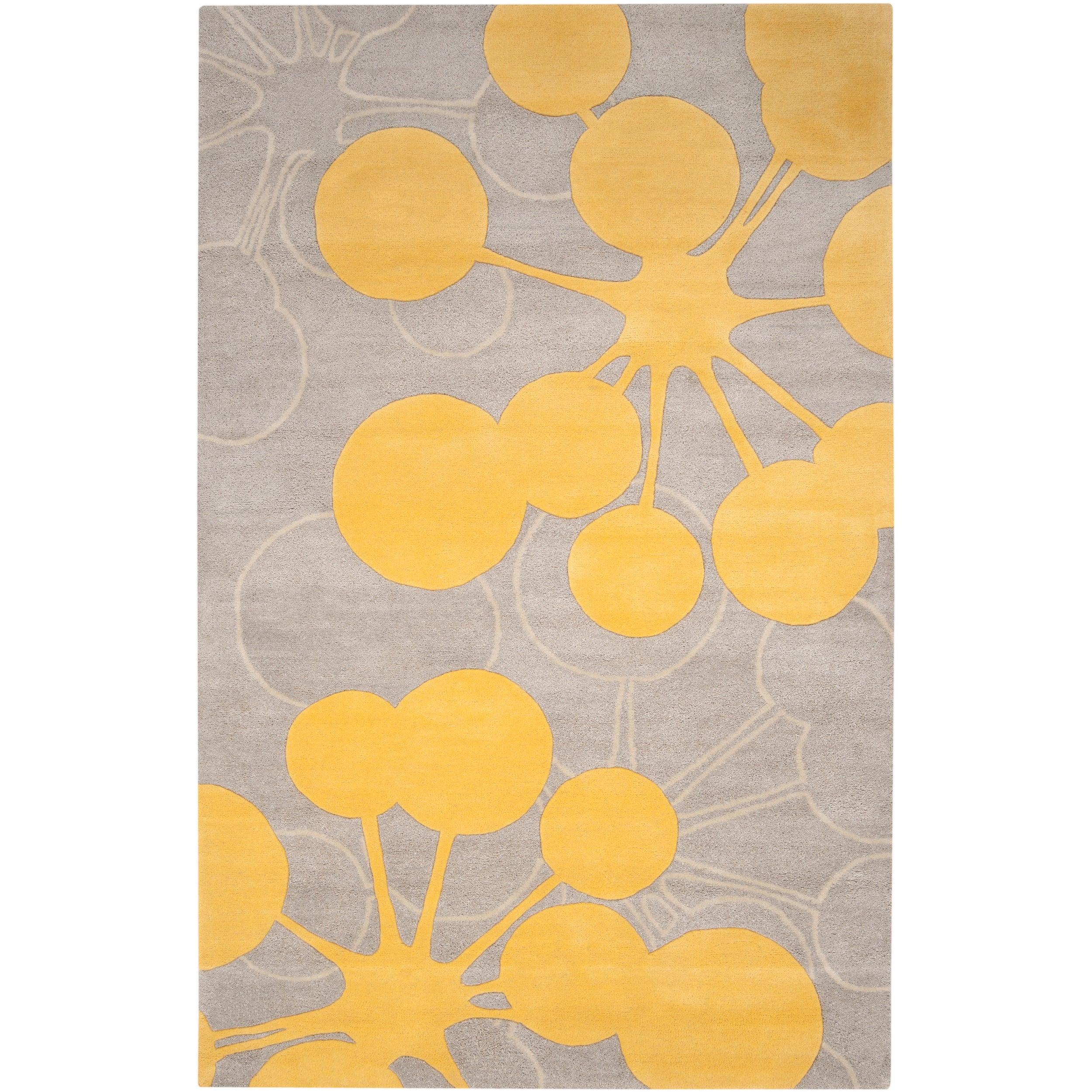Jef designs hand tufted grey yellow contemporary halesowen for 7x9 bathroom designs