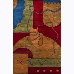 Hand-tufted Mandara Wool Rug (7'9 x 10'6)