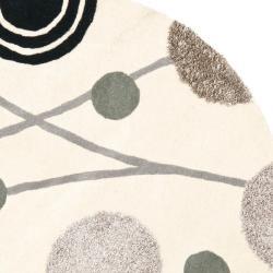 Safavieh Handmade New Zealand Wool Galaxy Beige/ Grey Rug (6' Round)