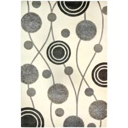 Handmade New Zealand Wool Galaxy Beige/ Grey Rug (7'6 x 9'6)