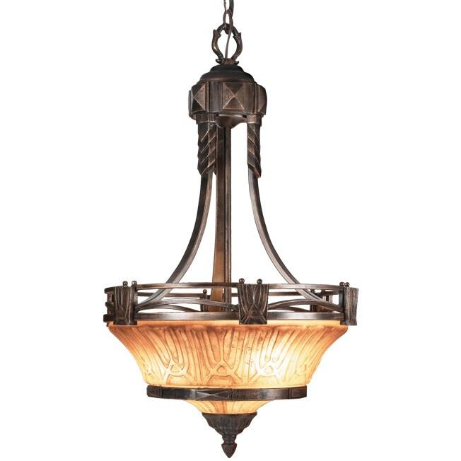 Woodbridge Lighting Sebastian 3 light Tuscan Bronze Pendant