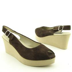 Steven Steve Madden Women's 'Avenues' Brown Slingback Wedges