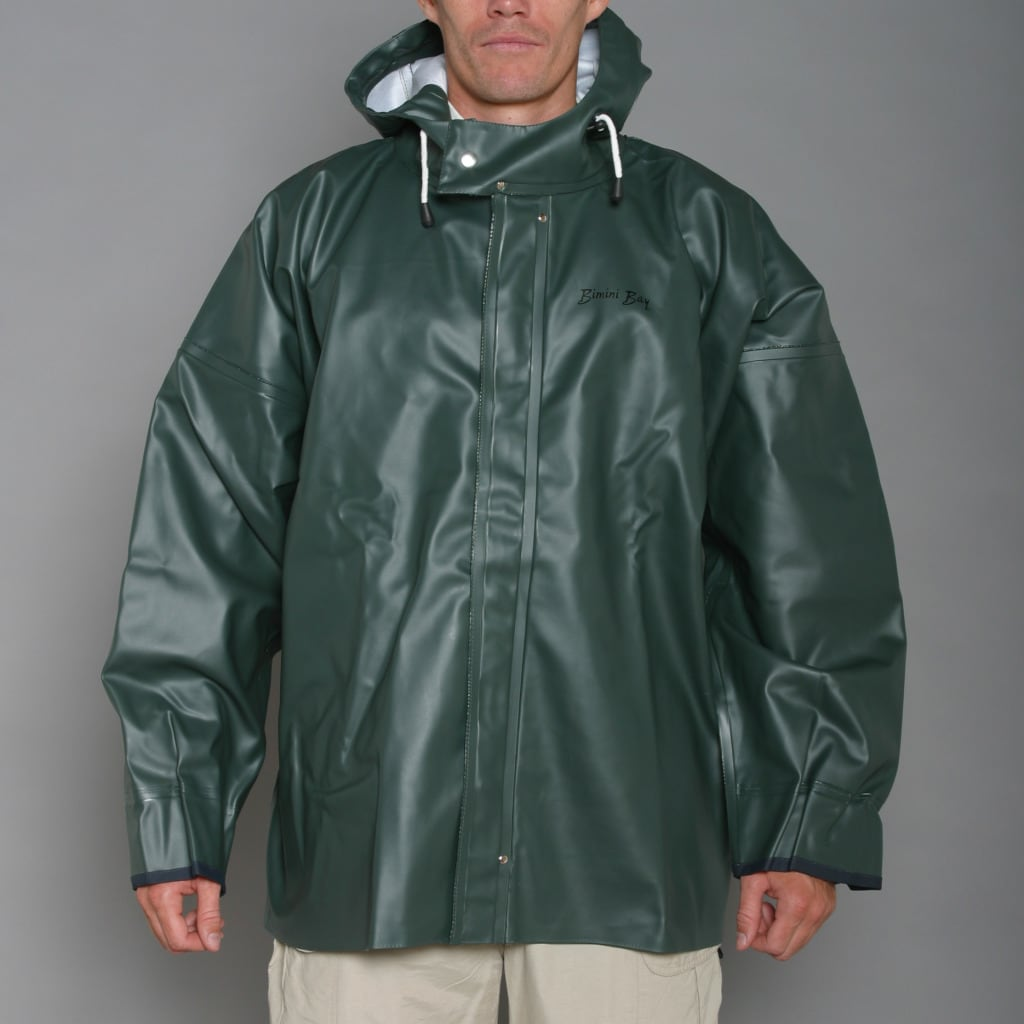 Bimini Bay Men's Green Force 10 Rain Jacket