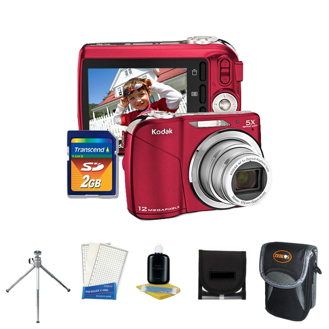 Kodak EasyShare C190 12MP Red Digital Camera with 2GB Kit (Refurbished)