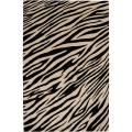 Hand-knotted Zebra Animal Print Chickerell Semi-Worsted Wool Rug (9&#39; x 13&#39;)
