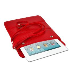 Premium Leatherette Shoulder Purse with Screen Protector for iPad 2 and iPad 3