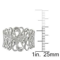 Miadora 14k White Gold 1/10ct TDW Diamond  Ring (G-H, I2-I3)