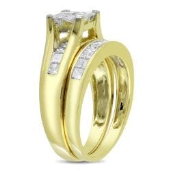 Miadora 14k Yellow Gold 2ct TDW Diamond Bridal Ring Set (G-H, I2-I3)