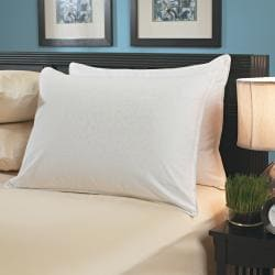 White Down Pillows with Removable Zip Covers (Set of 2)