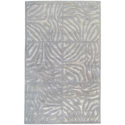 Candice Olson Hand-tufted Grey Zebra Animal Print Clichy Wool Rug ( 9' x 13' )