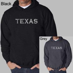 Los Angeles Pop Art Men's Texas Cities Hoodie