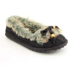 Rocket Dog Women's 'Shimmie' Dark Brown Cozy Knit Slippers