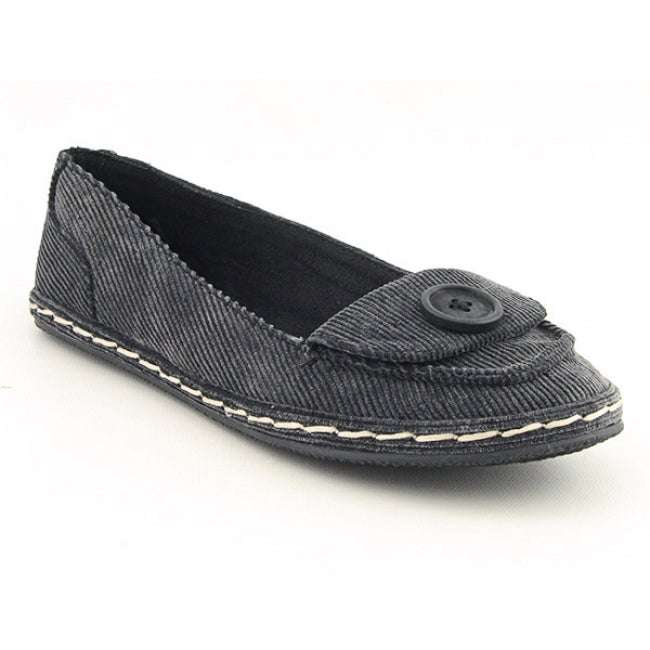 Rocket Dog Women's 'Whirl' Smoke Black/Washed Corduroy Cotton Flats