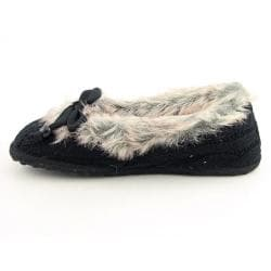 Rocket Dog Women's 'Shimmie' Black Cozy Knit Slippers