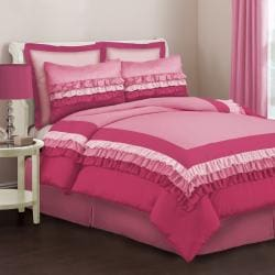 Lush Decor Starlet Pink 4-Piece Full-size Comforter Set