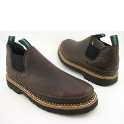 Georgia 'Giant Romeo' Mens Brown Soggy Work Boots