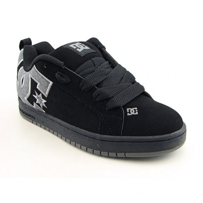 DC Shoe Co USA Youth Boys 'Court Graffik Se' Black/Plaid Skate Shoes (Size 6.5)