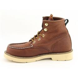 Georgia Youth Boys 'Moc Toe' Brown Boot (Size 9)
