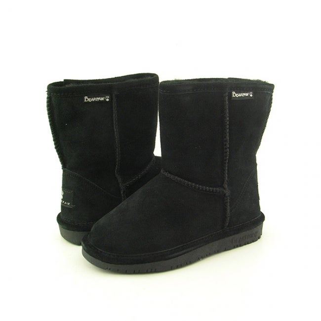 Bearpaw Girl's 'Emma' Black Boots Winter Shoes