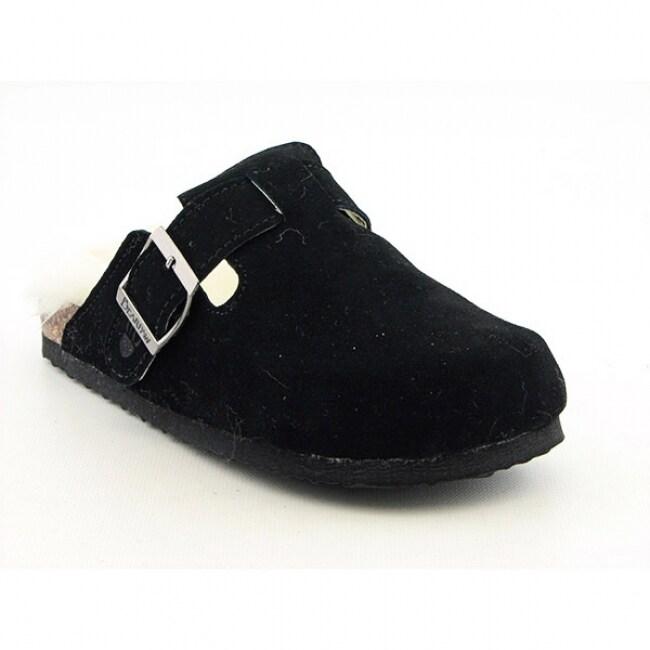 Bearpaw Girl's 'Jasmine' Black Clogs Medium Shoes