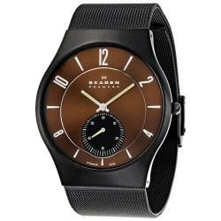 Skagen Men's Titanium Brown Dial Watch