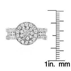 14k White Gold 3 1/2ct TDW Diamond Ring