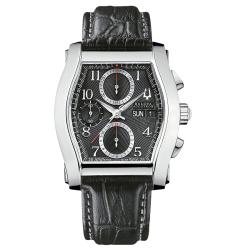 Bulova Accutron Men's 'Stratford' Leather Strap Automatic Chronograph Watch