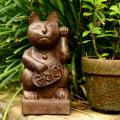 Stone Japanese Maneki Neko &#39;Lucky Cat&#39; Satuette (Indonesia)