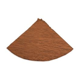 Hues Copper Hemmed Holiday Tree Skirt