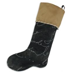 Pen Pal Blackbird-Shantung Almond Lined Trimmed Stocking