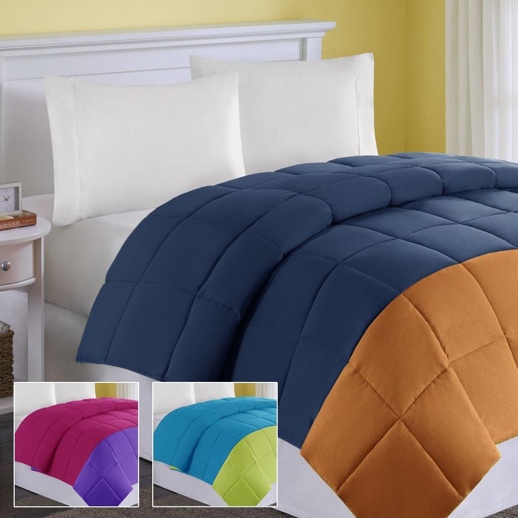Comfort Classics Colorblock Full/Queen-size Down Alternative Comforter