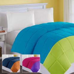 Comfort Classics Colorblock King- size Down Alternative Comforter