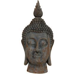 "25"" Thai Iron-Look Buddha Head Statue (China)"