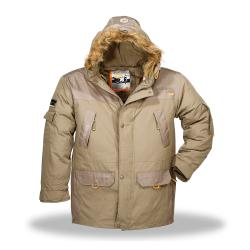 N3B Men's Waterproof-nylon Wind-resistant Six-pocket Hooded Parka