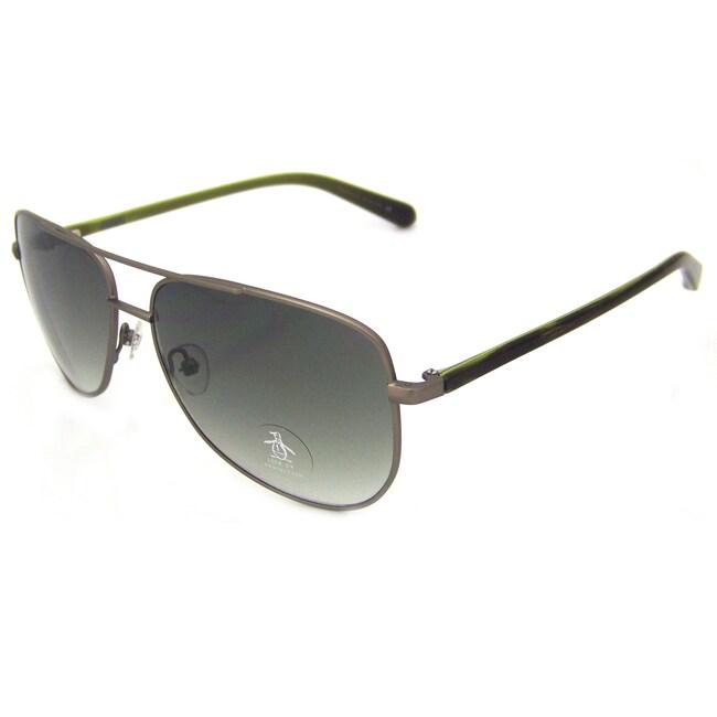 Original Penguin Women's GM Gunmetal 'The Salty' Aviator Sunglasses