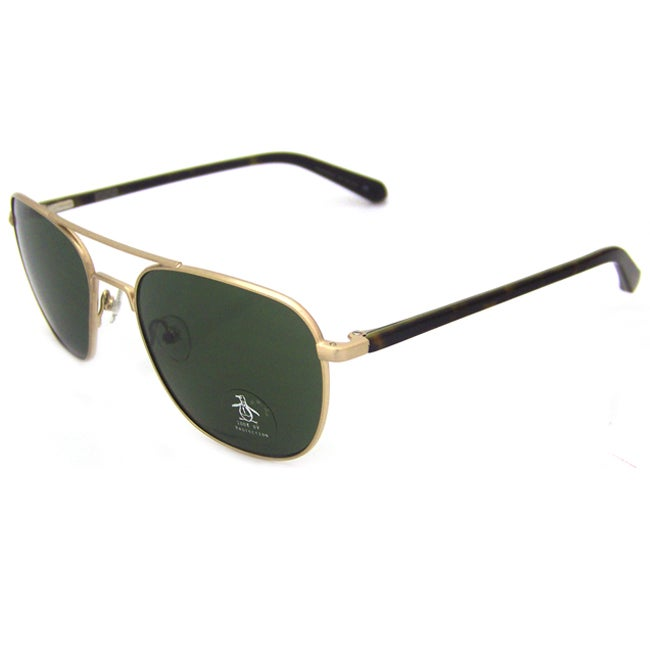 Original Penguin Women's YG Yellow Gold/ Brown 'The Meteor' Aviator Sunglasses