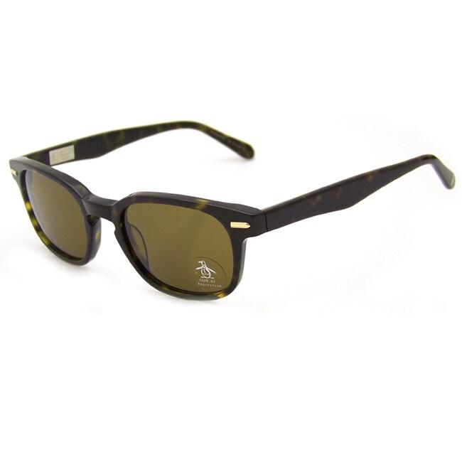 Original Penguin Women's Tortoise 'The Doyle Sun' Plastic Sunglasses