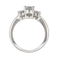 14k White Gold 1 1/3ct TDW Certified Clarity-Enhanced Diamond Engagement Ring (H-I, SI2)