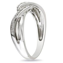 Miadora Sterling Silver 0.06 CT TDW Round White Diamond Ring (G-H, I3)