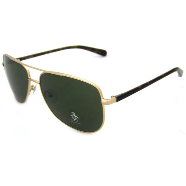 Original Penguin Women's Yellow Gold 'The Salty' Metal Aviator Sunglasses