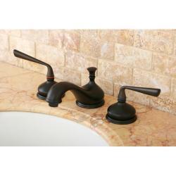 Oil-rubbed Bronze Widespread Faucet