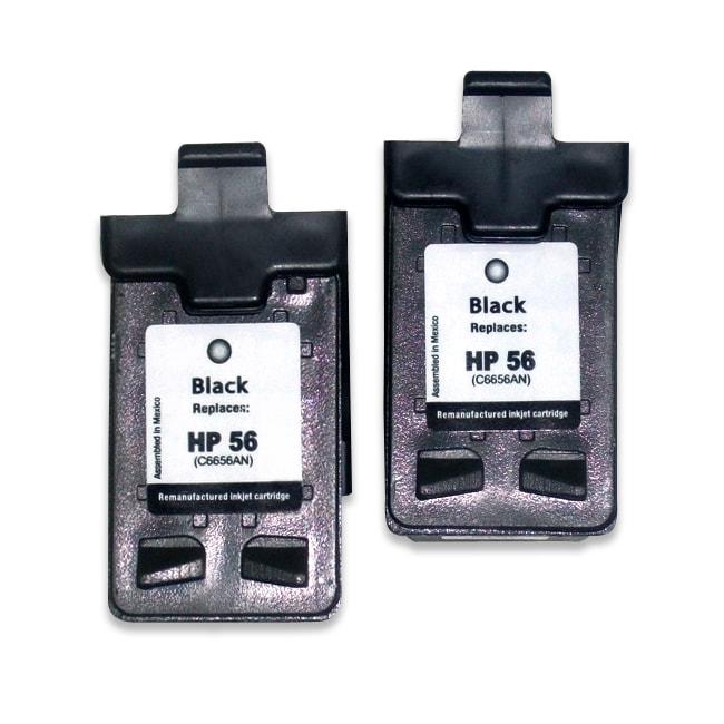 HP 56 Black Ink Cartridge (Remanufactured) (2-Pack)