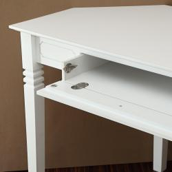 White Wood Corner Computer Desk