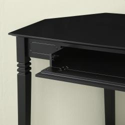 Black Wood Corner Computer Desk