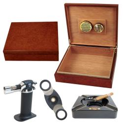 Cigar Humidor and Accessories Set Seis