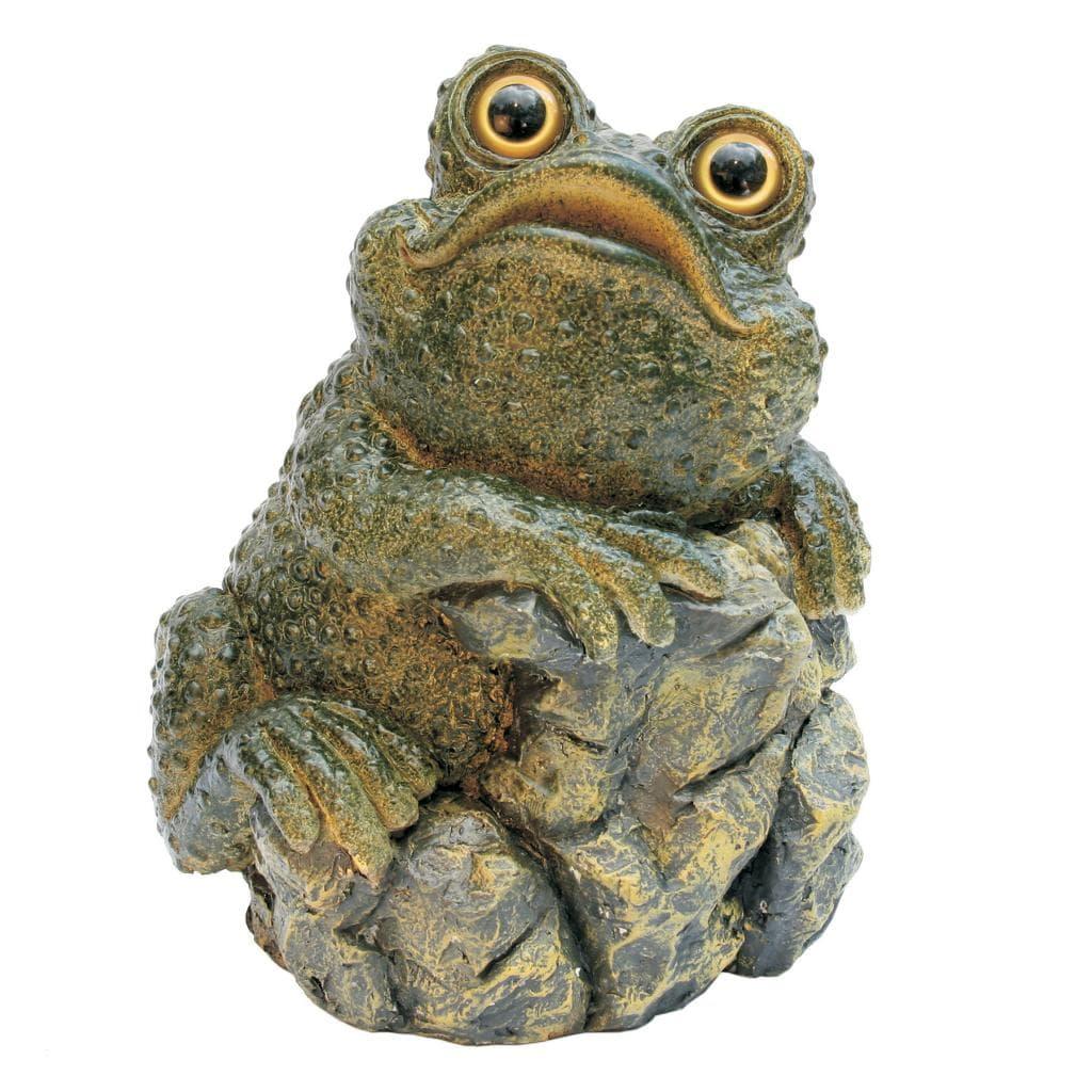 Michael Carr Designs 'Warts on Rock' Mossy Green Garden Figure