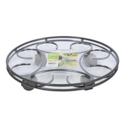 Plastec SC14SL Saucer Caddy, 14-Inches, Slate